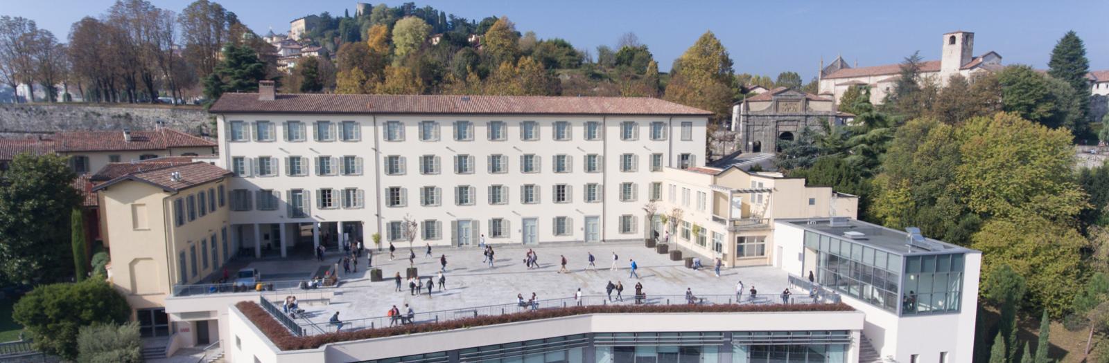 Sedi di Pignolo e Sant'Agostino viste dal drone