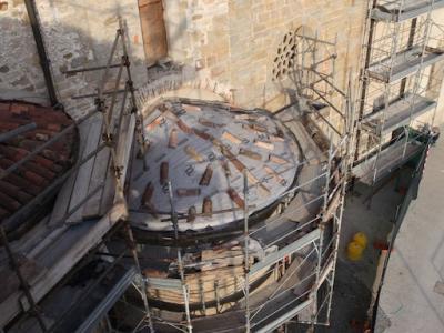 Lavori di restauro dell'Aula Magna - Cappella Laterale