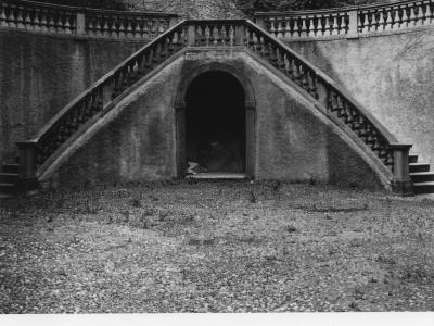 Palazzo Terzi: il cortile prima dei restauri