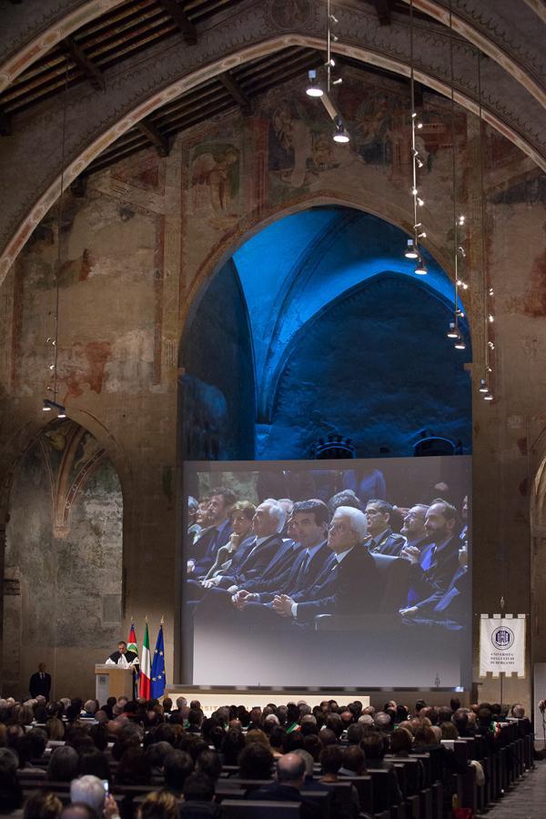 Intermezzo musicale dell'Ensemble Ottoni dell'Istituto musicale 'Gaetano Donizetti' diretti dal Maestro Ermes Giussani