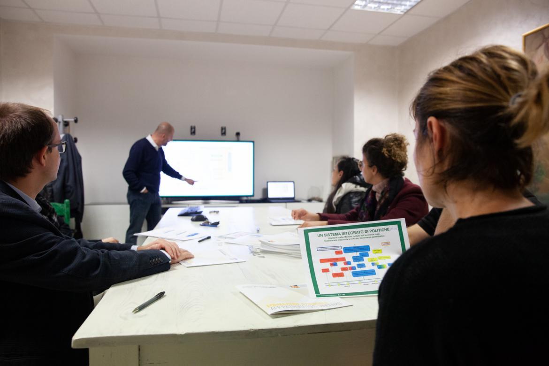 Ricercatori UniBg in riunione