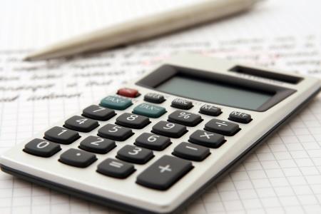 Dettaglio di una calcolatrice